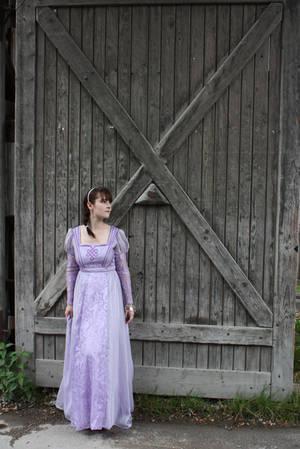 STOCK Medieval girl purple II by MyladyTane