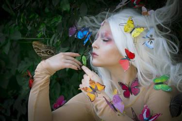STOCK Butterfly girl II by MyladyTane