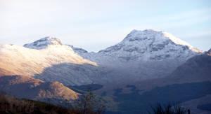 Snow Capped Mountain, Scotland