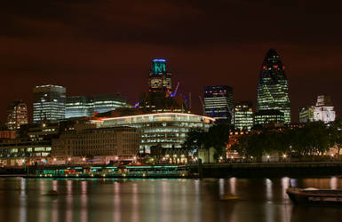 City of London at night by cody29