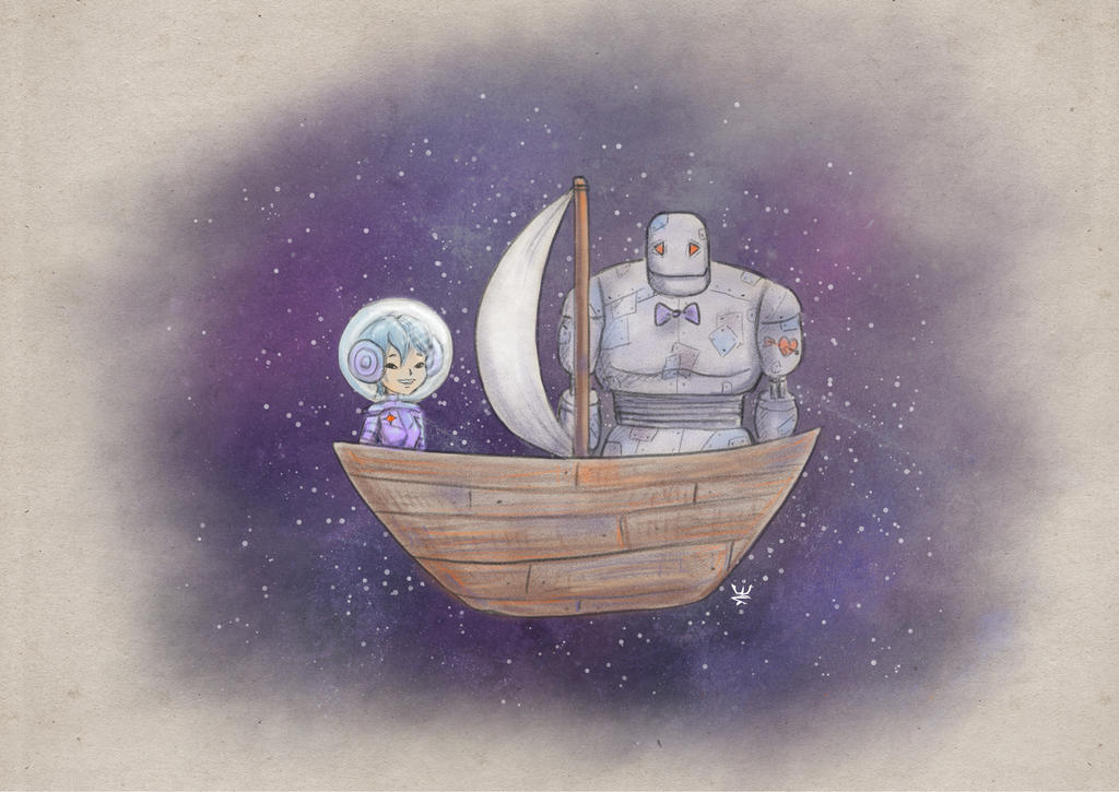 Boat Trip In Space by Kirana