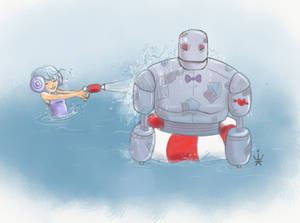 Water Fun With Robot