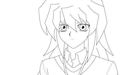 Bakura 1 Lineart by BlueYusei