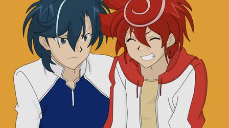 Chrono and Kazuma 1 by BlueYusei