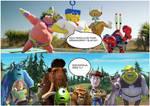 SpongeBob Meet Toy Story,Monsters Inc.,Shrek and I