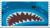 Stamp - Cute Shark by coffeefanatic3462
