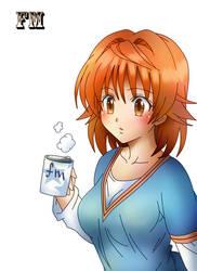 To Love Ru (Yuusaki  riko 02) gimp 2.8 lineart by Matheus05tl