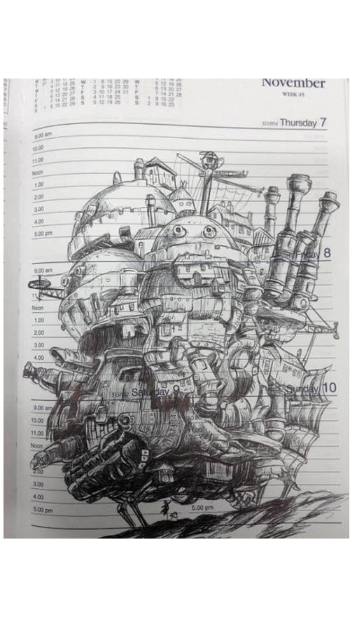 Dibujo del castillo vagabundo by Senketsuchan on DeviantArt