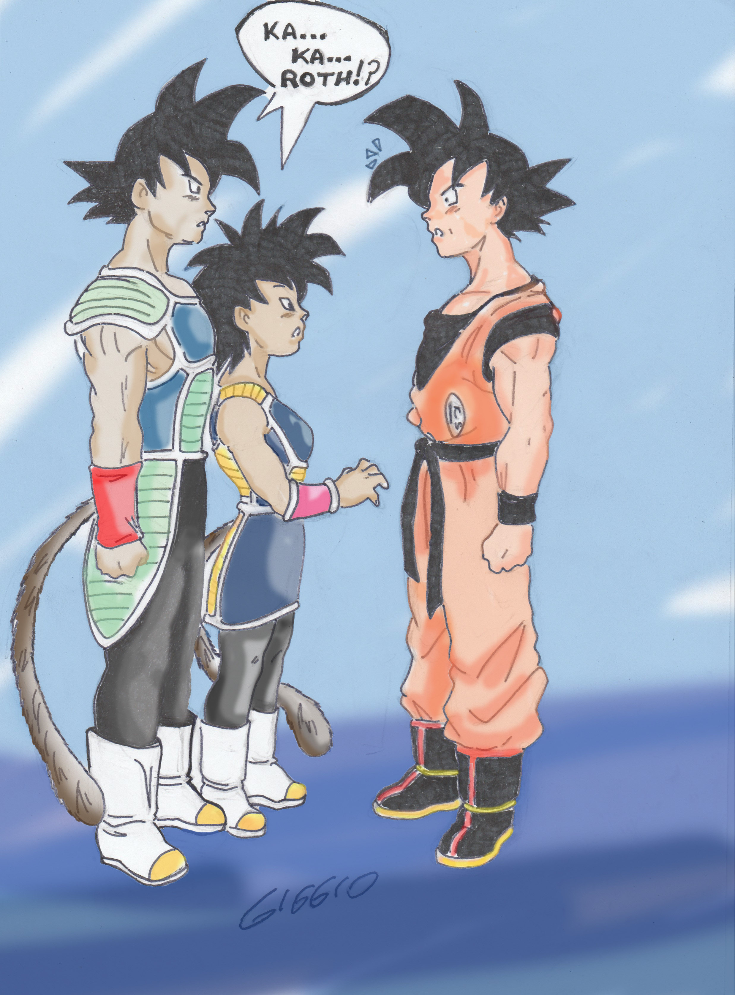 Goku He Meets His Parents By Kingdomhentai On Deviantart