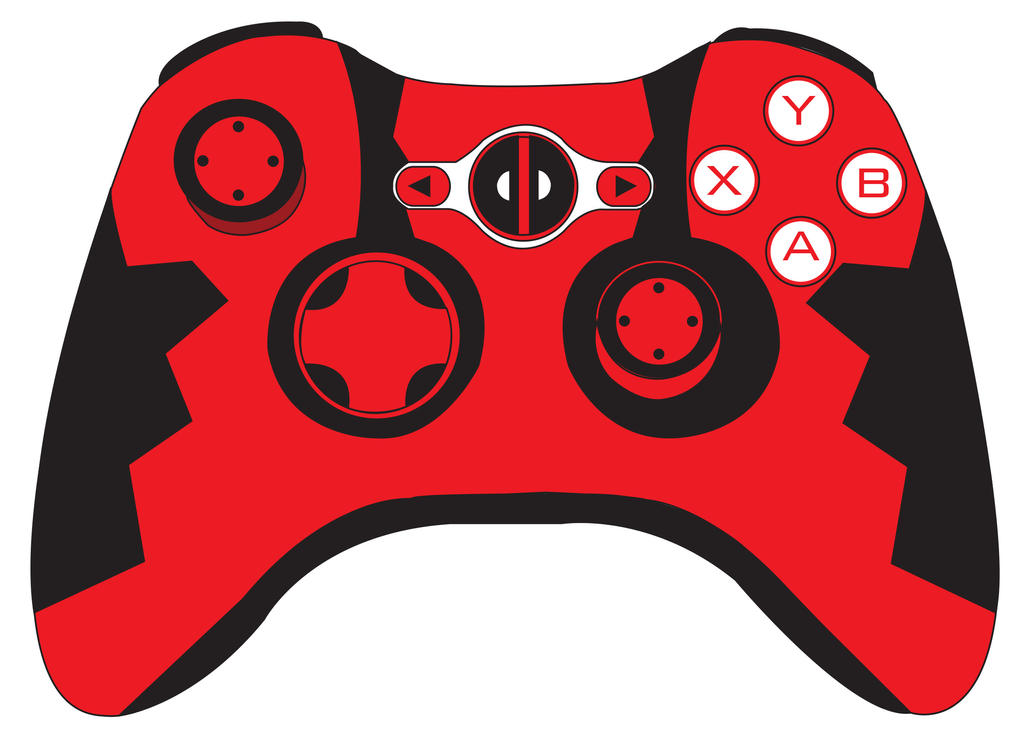 D Line Drawings Xbox : Deadpool xbox controller by mexicoknight on deviantart