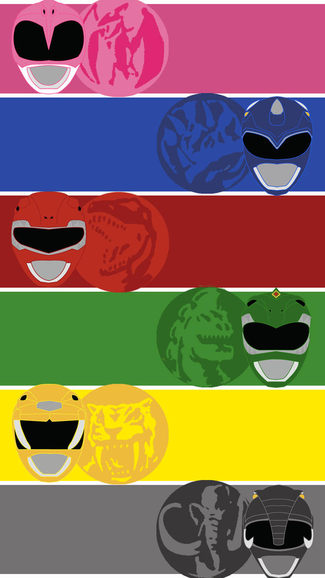 mighty morphin power rangers mobile wallpapermexicoknight on