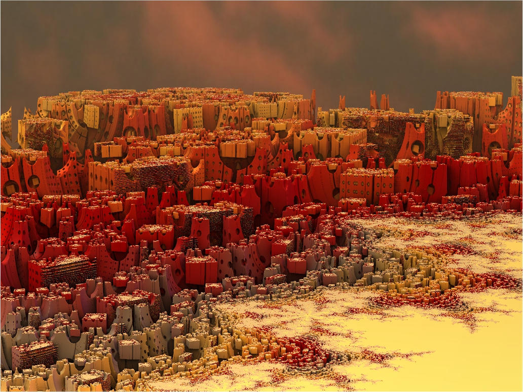 Mandelbrot city by FractalDesire