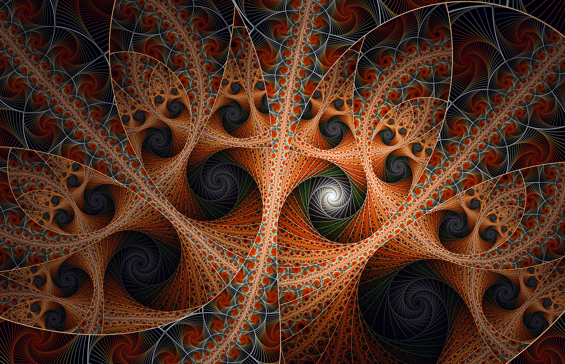 Black swirls and one misfit by FractalDesire