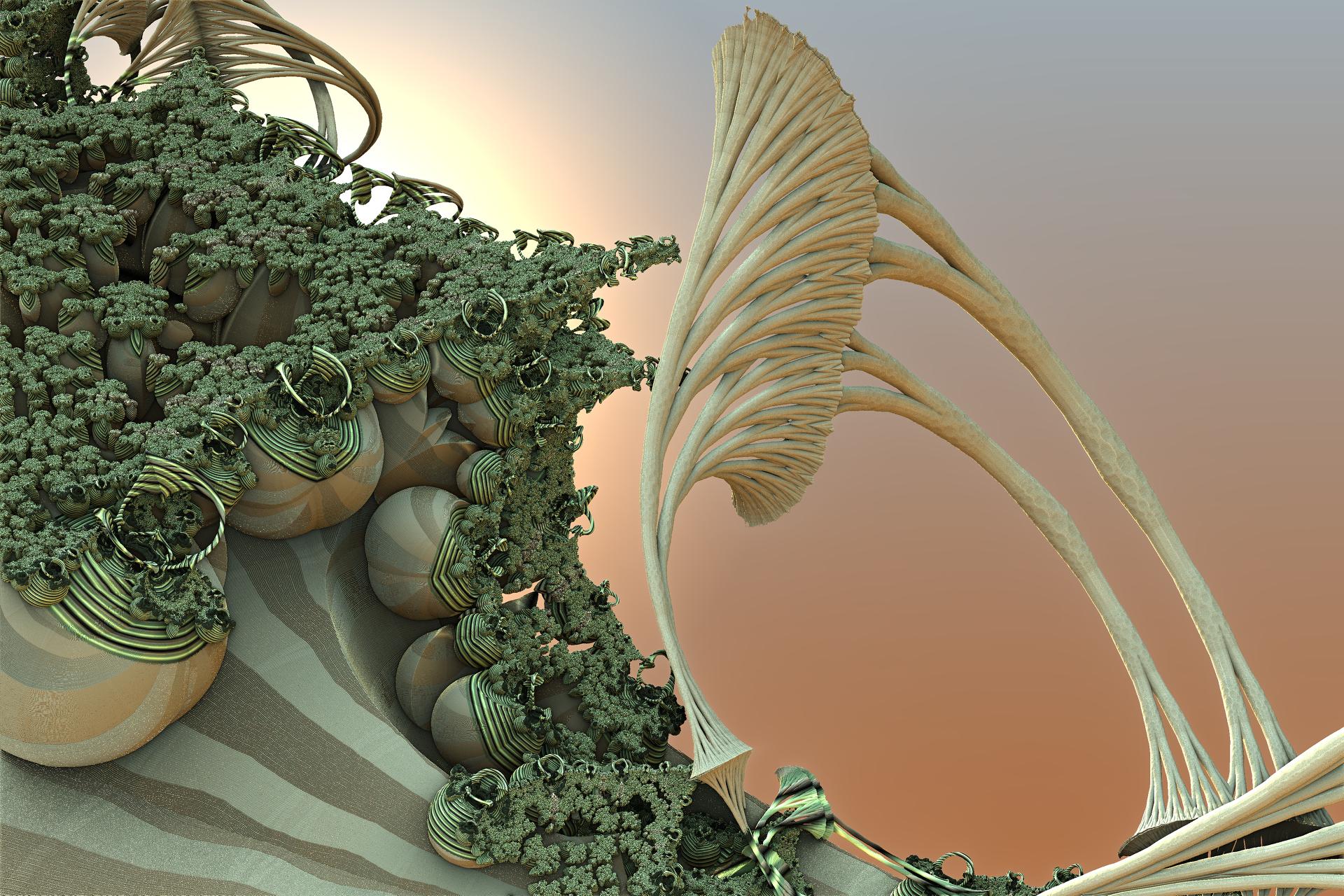 Fractal greenery by FractalDesire