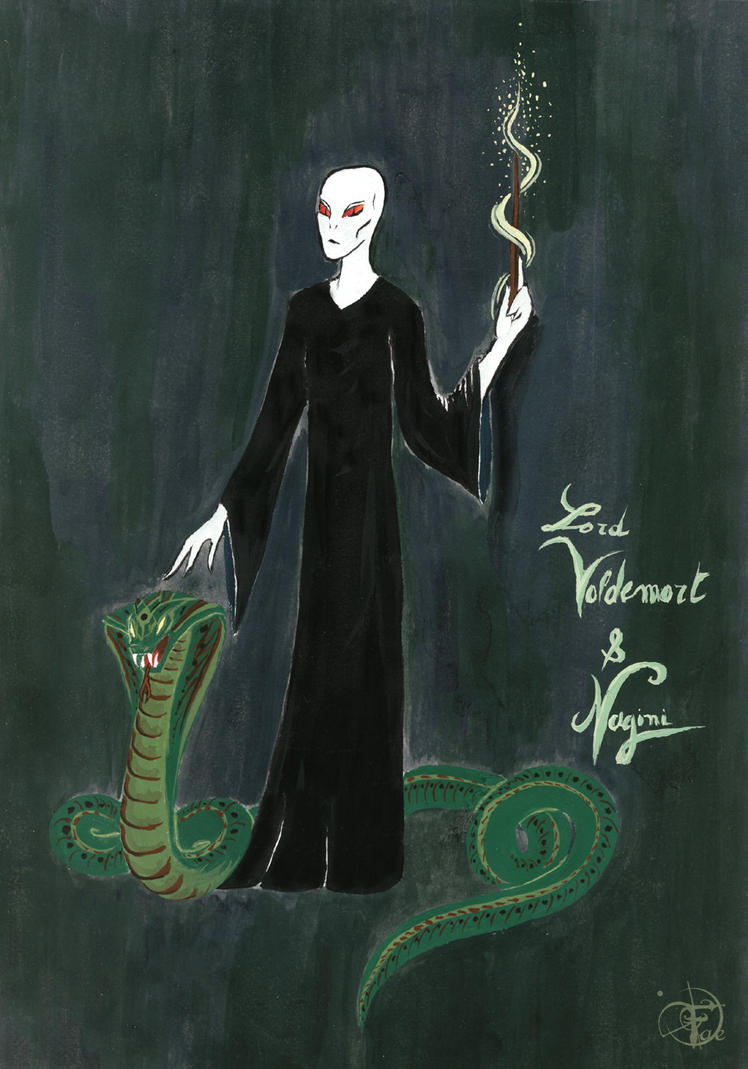 Voldemort and Nagini by Faeliscity on DeviantArt