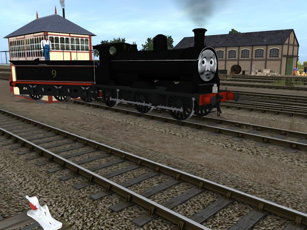 A Very Clumsy Engine by SkarloeyRailway