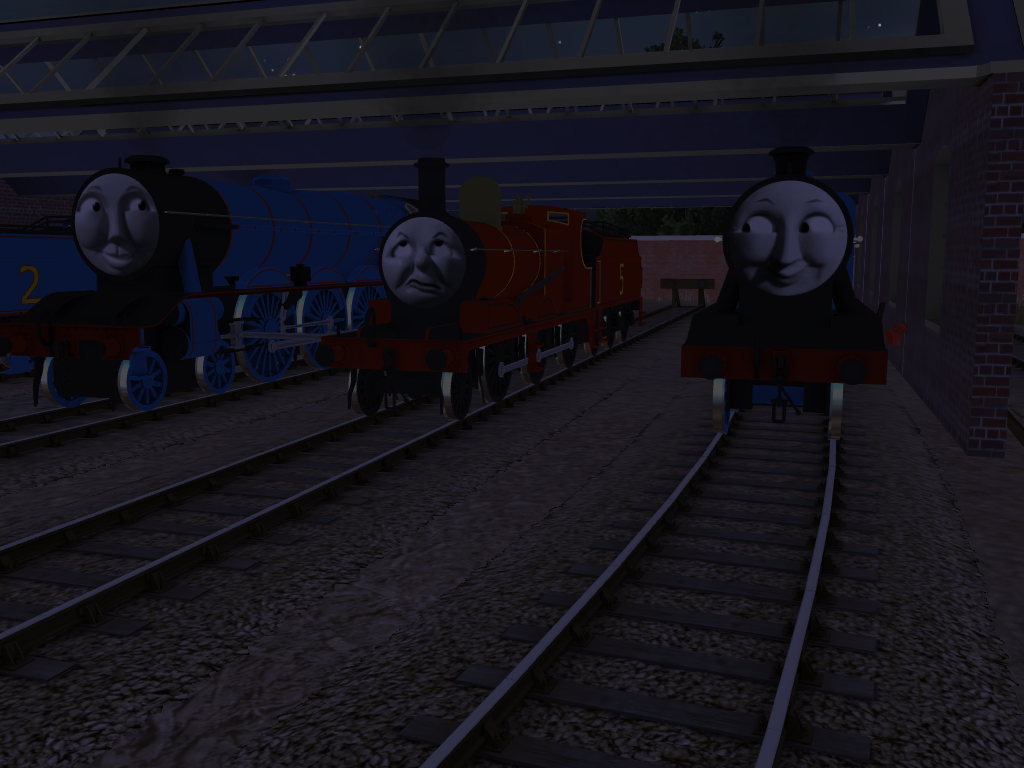 The other engines talked of nothing but bootlaces by SkarloeyRailway