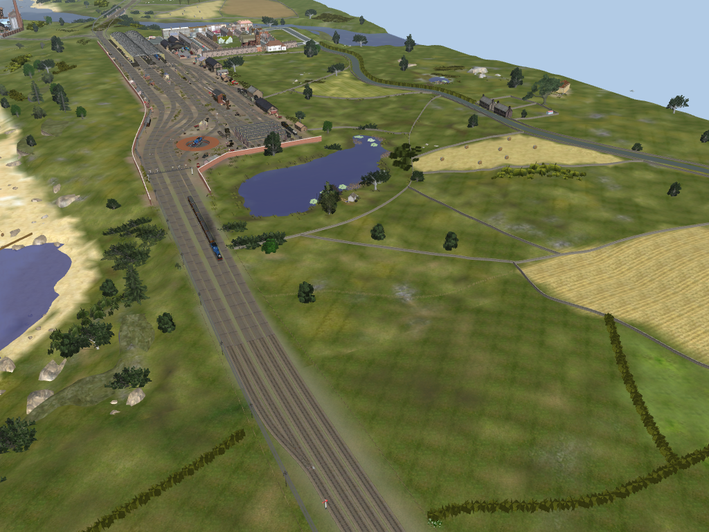 Overview of Tidmouth by SkarloeyRailway