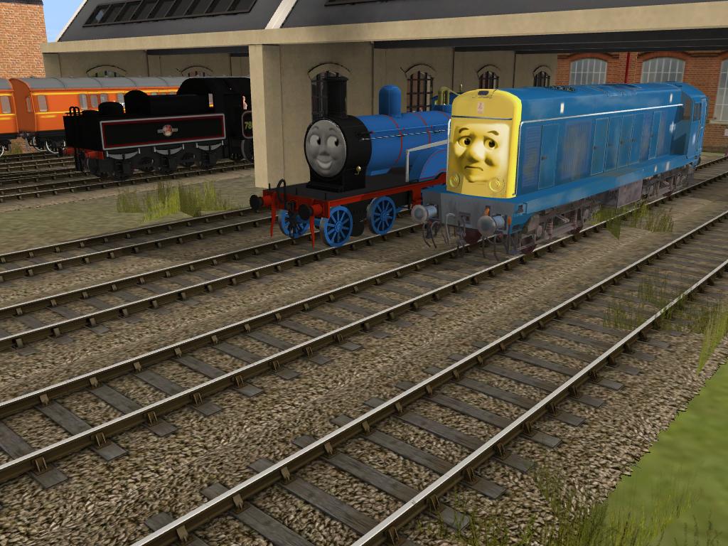 Edward and the Diesel Engine by SkarloeyRailway