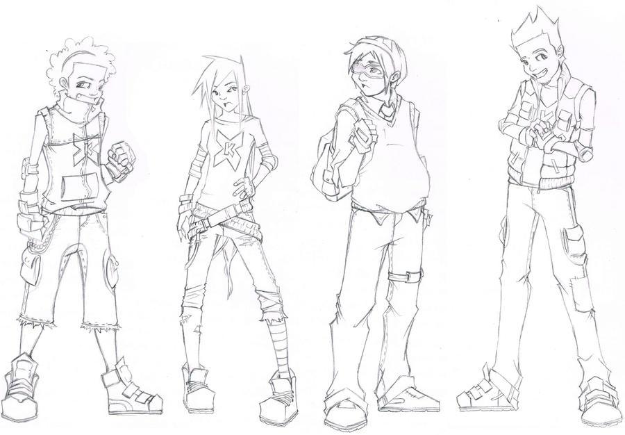 xtreme kids sketch revamped by dg art85 - Sketch Images For Kids