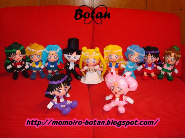 All Sailor Senshi plush ver. by Momoiro-Botan