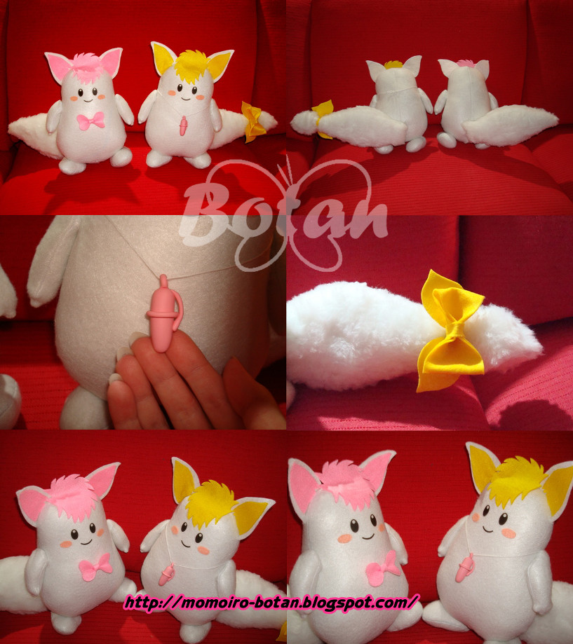 Pico and Paco plush version by Momoiro-Botan