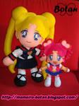 Usagi and Sailor ChibiChibi plush version