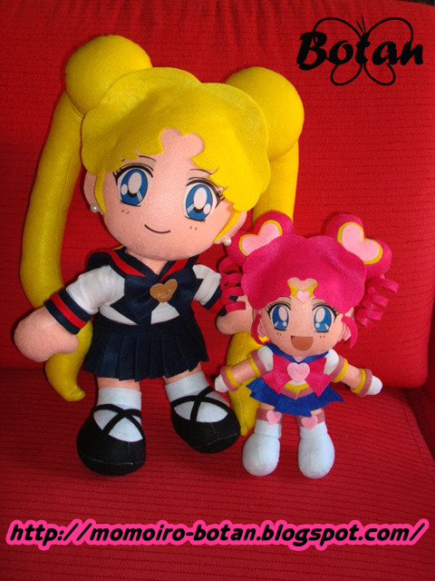 Usagi and Sailor ChibiChibi plush version by Momoiro-Botan