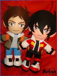 Keith and Lance plushie! by Momoiro-Botan
