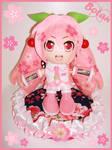 Sakura Miku plushie! by Momoiro-Botan