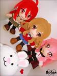 Taiga, Louise and Shana plushie! by Momoiro-Botan
