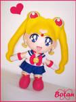 chibi Sailor Moon plushie! by Momoiro-Botan