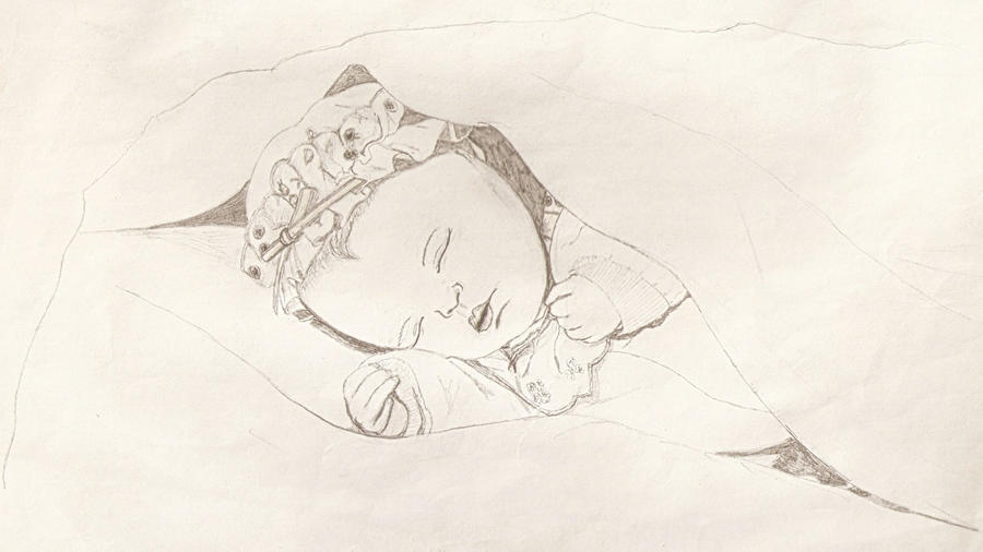 sleeping baby drawing by antihero74 on DeviantArt
