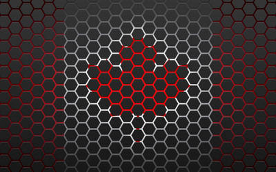 Canada Flag HEX (Hexagon) Wallpaper