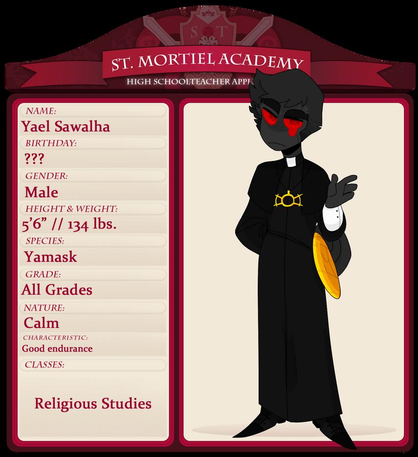 Religious Studies: StM -- Religious Studies Teacher, Father Yael By LabonBull