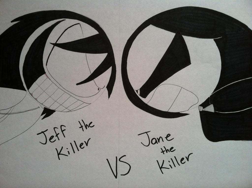 Dibujos Para Imprimir De Jeff De Killery Jane De Killer: Jeff The Killer VS Jane The Killer By SticcatheStickGod On