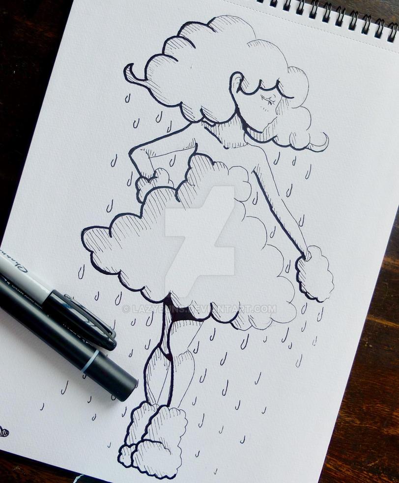 -Inktober Week Three Cloud- by Lazybuns