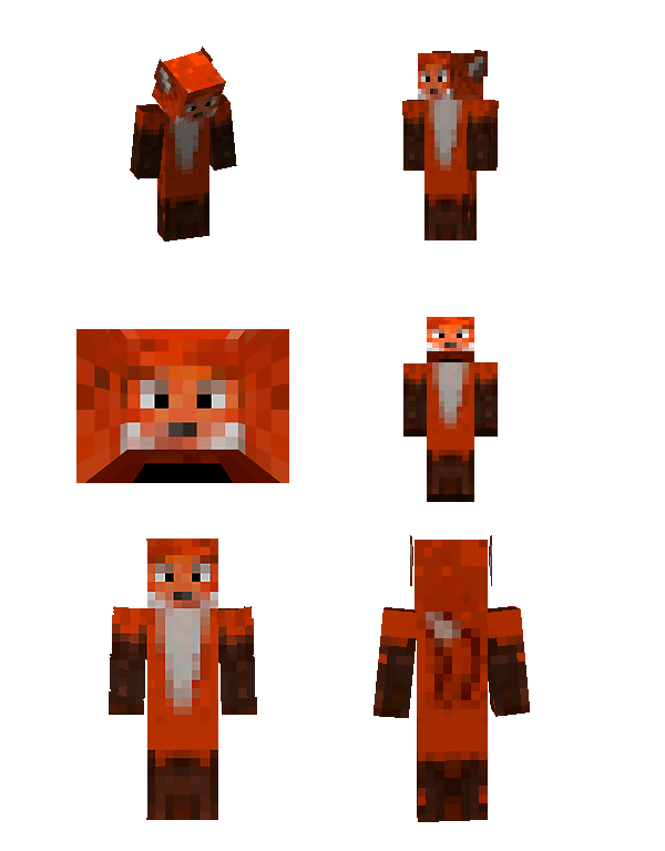 Minecraft Fox 'Skin' by Elreydelleon