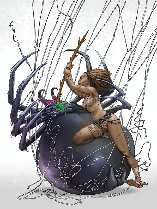 Spider Oman by GreyThornberry