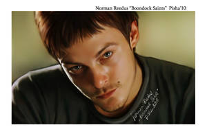 norman reedus digital portrait by Apisha