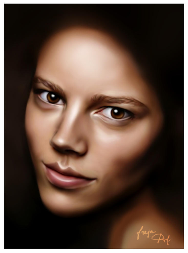 Freja Beha The portrait by Apisha