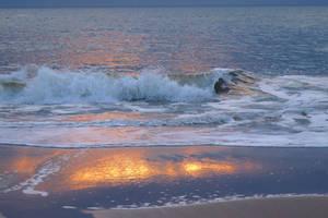 little wave in the sundown by Dieffi
