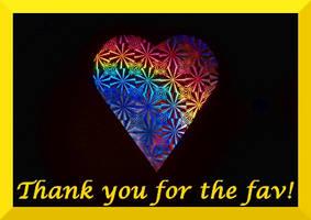 rainbow heart thank you for the fav by Dieffi