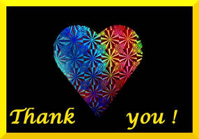 rainbow heart thank you