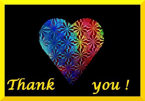 rainbow heart thank you by Dieffi