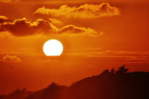 orange clouds by Dieffi