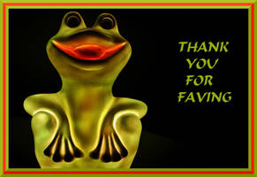 THANKS FOR FAVING - FROG