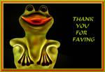THANKS FOR FAVING - FROG