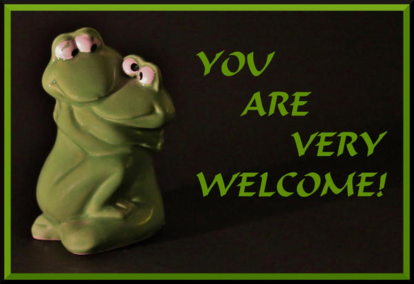 YOU ARE VERY WELCOME - FROGHUG