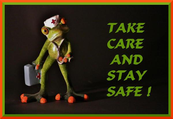 TAKE CARE AND SRAY SAFE FROG NURSE